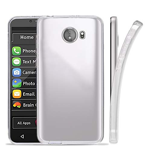 "GreatCall Jitterbug Smart 2 (5.5"" Screen) Smartphone for Seniors, Phone Skin Case Slim Clear"