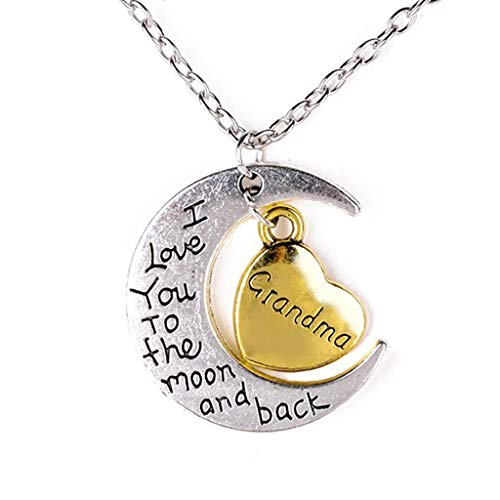 'Grandma' I Love You To the Moon and Back Necklace - LOW PRICE!