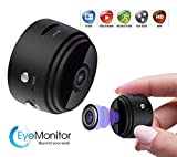 EYE-MONITOR Mini Wireless Hidden Security Surveillance Spy Camera, Night Vision 1080P Full HD, WiFi, IP, Digital Video Recorder for iOS iPhone and Android