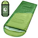 VENTURE 4TH Backpacking Sleeping Bag - Lightweight, Comfortable, Water Resistant, 3 Season Sleeping Bag for Adults & Kids - Ideal for Hiking, Camping & Outdoor Adventures - Regular Size - Green/Green