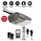Genie SilentMax 1200 Garage Door Opener – ¾ HPc Power Plus DC Motor Belt Drive System – Includes 2 3-Button Remotes, Wall Console, Wireless Keypad, Motion Detector and Safe-T-Beams – Model 4042-TKH
