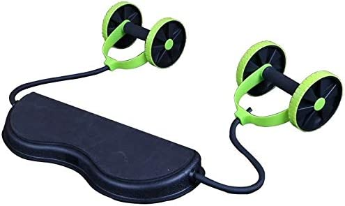 Tofreedomwind Abdominal Multifunctional Exercise Equipment Ab Wheel Double Roller with Resistance Bands/Knee mat Waist Slimming Trainer at Home Gym 7