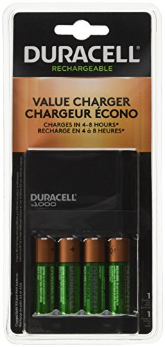 Duracell Fastest Value Charger with 4 AA Batteries 1 Kit (CEF14DX)