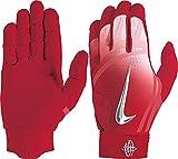 Nike Adult Huarache Elite Batting Gloves 2018 (Red/Red, Medium)