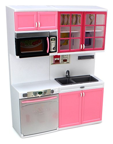 Modern Kitchen 16\' Battery Operated Toy Kitchen Playset, Perfect for ...