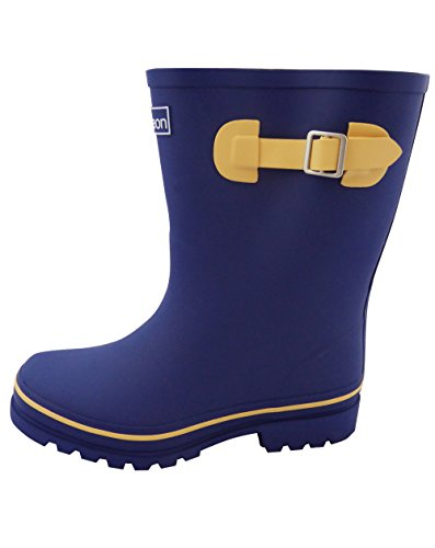 Jileon Half Height Rain Boots for Women - Wide in The Foot and Ankle - Durable All Weather Boots Blue