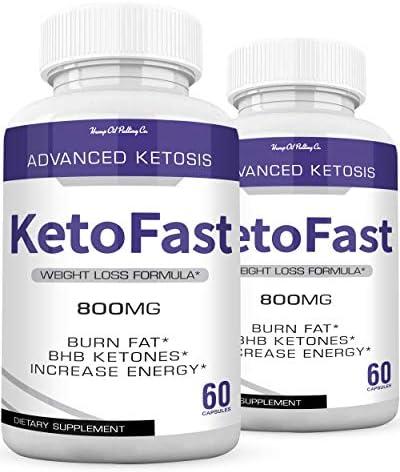 Keto Fast Diet Pills Keto BHB Fast Burn Weight Loss Capsules 700 mg Pure Keto Fast Supplement Burning for Energy - Keto BHB Ultra Boost Exogenous Ketones for Rapid Ketosis for Men Women - 2 Bottles 3