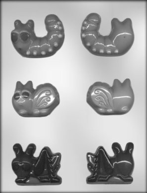 CK Products 2-1/2-Inch 3-D Worm and Bugs Chocolate Mold