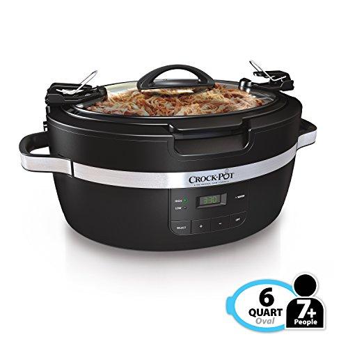 Crockpot SCCPCT600-B Thermoshield Slow Cooker, 6 quart, Black