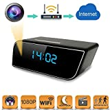 Spy Camera Mini WiFi Hidden Camera with Alarm Clock,Baby Monitor,HD 1080P Security Surveillance Cameras Nanny Cam with Motion Detection,Video Recording/Remote Monitoring with iOS/Android App