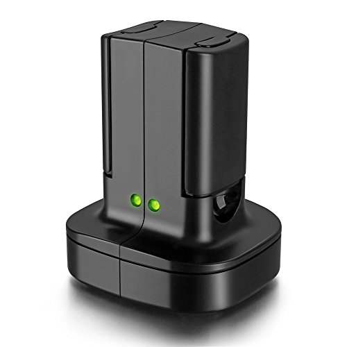 For Xbox 360 2 Pack Rechargeable Battery Pack with Dual Charging Station Dock Charger Stand Base