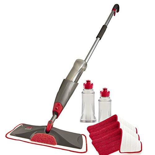 Rubbermaid Reveal Spray Mop Floor Cleaning Kit, Bundles: 1 Mop, 3 Multi-Surface Microfiber Wet Mopping Pads, 2 Refillable Bottles (1892663)