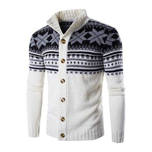 black-shop Autumn Warm Christmas Sweater Men Fashion Casual Stand Collar Knitting Mens Sweaters 2018