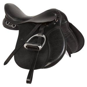 Acerugs All Purpose Black Premium Leather English Riding Horse Saddle Starter KIT 15 16 17 18