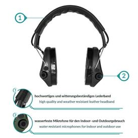 Sordin-Supreme-PRO-X-Active-Hearing-Protection-Noise-Reduction-Safety-Ear-Muffs-with-Gel-Seals-Black-Leather-Headband-and-Cups
