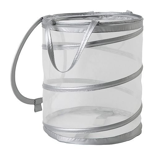 Ikea FYLLEN 800.992.24 Laundry basket, gray, Diameter: 17¾', Height: 19¾', Volume: 21 gallon