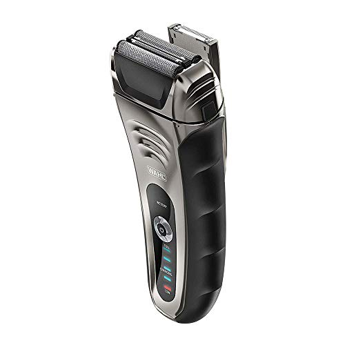 Wahl Speed Shave Rechargeable Lithium Ion Wet/Dry Waterproof Facial Hair Shaver with Speedflex Precision Foils #7069