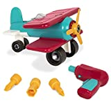 Battat – Take-Apart Airplane – Toy vehicle assembly playset with functional battery-powered drill - Early childhood developmental skills toy for kids aged 3 and up