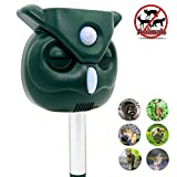 ZOVENCHI Ultrasonic Animal Repeller, Solar Powered Waterproof Outdoor Animal Repeller with Ultrasonic Sound,Activated Motion PIR Sensor and Flashing Light for Cats, Dogs, Squirrels, Moles, Rats