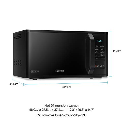Samsung 23l Solo Microwave Oven With Quick Defrost Ms23k3513ak: Samsung 23 L Solo Microwave Oven (MS23K3513AK/T, Black) %sep