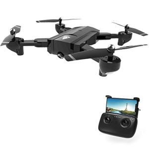Rabing Rc Drone, SG900 Optical Flowing Foldable FPV Wifi RC Quadcopter with Double Hd 720P Camera 4CH 6-Axis Gyro Image Allow Gesture Photo/Video Selfie Drone, Black 41mDJTLqicL