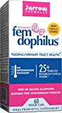 Jarrow Formulas Shelf-Stable Fem-Dophilus, 1 Billion Organisms Per Capsule, Supports Vaginal and Urinary Tract Health, 60 Capsules