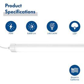 Hyperikon-Vapor-Proof-LED-Shop-Light-Fixture-4-Foot-70W-Commercial-Garage-Lights-Hardwired-Frosted-Lens-Daylight-DLC-4-Pack