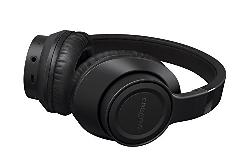 Creative Outlier Black Wireless Bluetooth Over-ear Headphones, 13-Hour Playtime, High-Performance,...