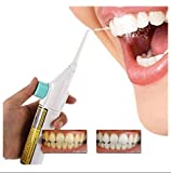 Easyinsmile Portable Power Floss Dental Water Jet Cords Tooth Pick Without Batteries-Dental Care Oral Irrigator or Air Floss Water Pick (White)