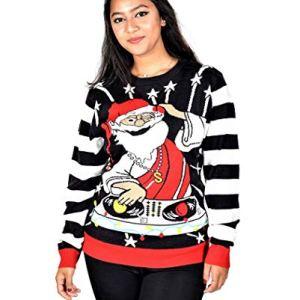 KESIS DJ Santa Ugly Christmas Pullover Sweater 2XL