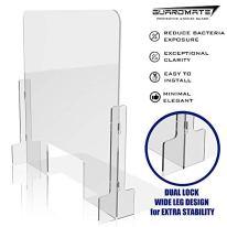 GuardMate-Plexiglass-Shield-Premium-Commercial-Grade-Sneeze-Guard-DUAL-LOCK-Design-24W-x-24H-Acrylic-Divider-Portable-Plastic-Barrier-Shield-Reception-Desk-Cashier-Nail-Salon-Checkout-Counter