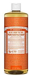 Dr. Bronner's Castile 18-in-1 Hemp Tea Tree Liquid Soap