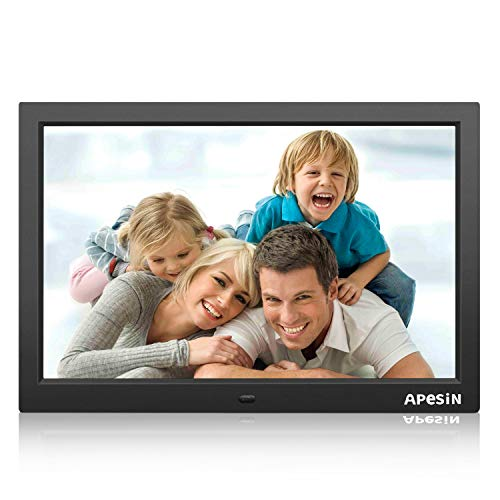 Digital Photo Frame, APESIN 15.4 inch 1440 x 900 Pixels HD Screen(Black)