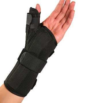 Therapist's Choice Wrist Brace with Spica Thumb Support, Universal Size (Right)