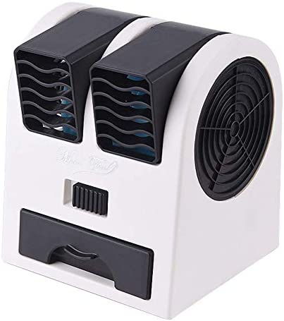 Blackcherry Mini Fan & Portable Dual Bladeless Small Air Conditioner (Black)