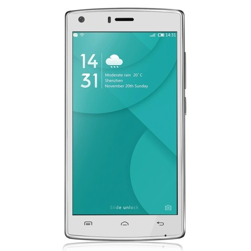DOOGEE X5 MAX Pro 16GB ROM 5.0 Inch Android 6.0 Smartphone, MTK6737 Quad Core 1.3GHz, 2GB RAM GSM & WCDMA FDD-LTE (White)