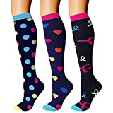 Compression Socks (3 Pairs), 15-20 mmHg is Best Athletic & Medical for Men & Women, Running, Flight, Travel, Nurses - Boost Performance, Blood Circulation & Recovery (Large/X-Large, Assorted 1)