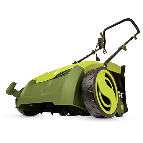 Sun Joe AJ801E 12 Amp 12.6' Electric Scarifier Plus Lawn Dethatcher with Collection Bag