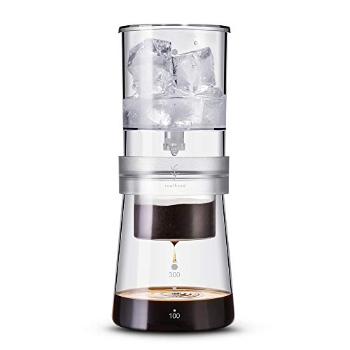 AMAZING COFFEE-Soulhand Ice Drip Coffee Maker Adjustable Rate Dutch Style Coffee Tea Maker Cold Brew Coffee Dripper 350ml for Home Travel Office