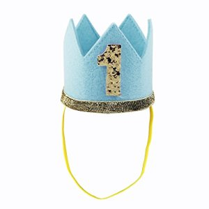 Freebily Infant Baby Girls Boys 1st / First Birthday Headband Crown Party Hat Head wear Accessories Blue Number 1 One Size 41mcZq4ua4L