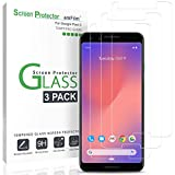 amFilm Glass Screen Protector for Google Pixel 3 (3 Pack) Tempered Glass Screen Protector