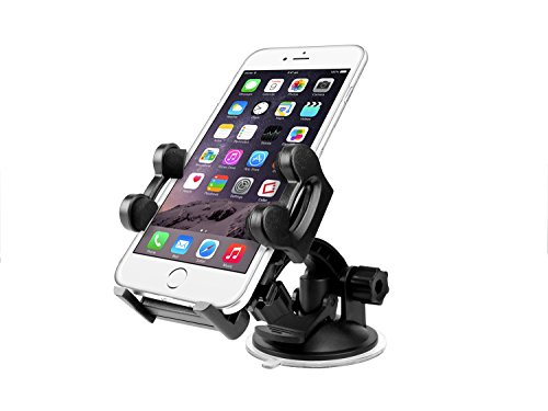 Cellet Car Windshield/Dashboard Mount Phone Holder with Large Suction Cup - Compatible to Apple iPhone XS/Max/Xr/X/8/8 Plus/7/6, Samsung Note 9/8/5, Galaxy S9/Plus/S8/S8+ Google Pixel 3 XL