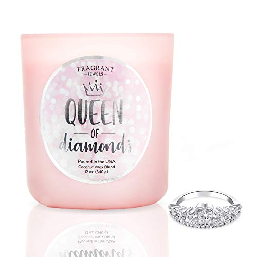 Fragrant Jewels Queen of Diamonds Jewel Candle with Collectible Rings (Size 5-10)