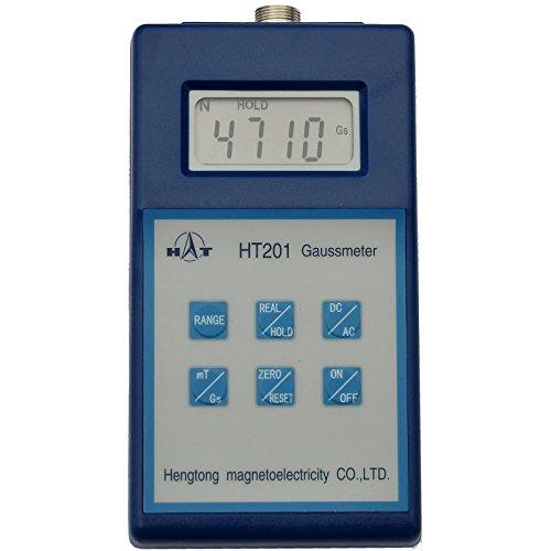 HT Digital Gaussmeter with Peak Hold - Can Display Gauss or Tesla