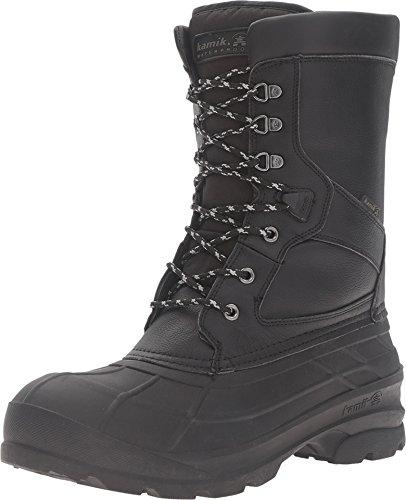 Kamik Men's NationPro Snow Boot, Black, 12 M US