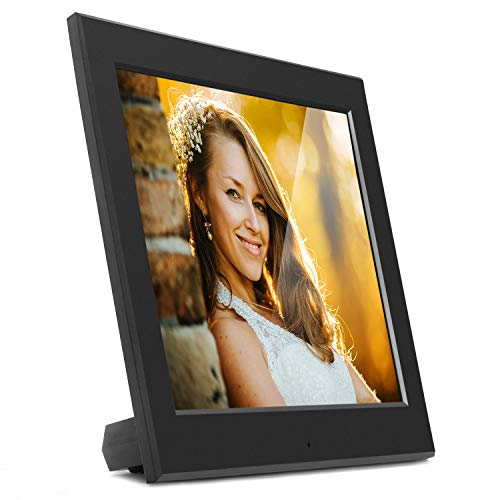 Aluratek - 8' Slim Digital Photo Frame with Auto Slideshow 1024 x 768 Hi-Res