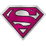 C&D Visionary DC Comics Superman Super Girl Logo Glitter Sticker
