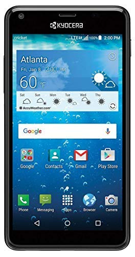 Cricket KYOCERA Hydro View 5' QHD Display 4G LTE Water Proof and Dust Proof (3ft/30min) (Locked to Cricket)