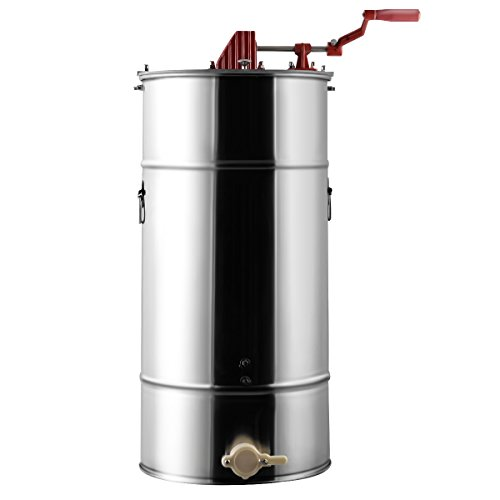 Goplus Large 2 Frame Stainless Steel Honey Extractor Beekeeping Equipment