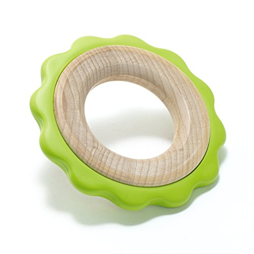 BeginAgain Ring Teether - Provide Comfort and Promote Fine Motor Skills - Green, 6 Months and Up
